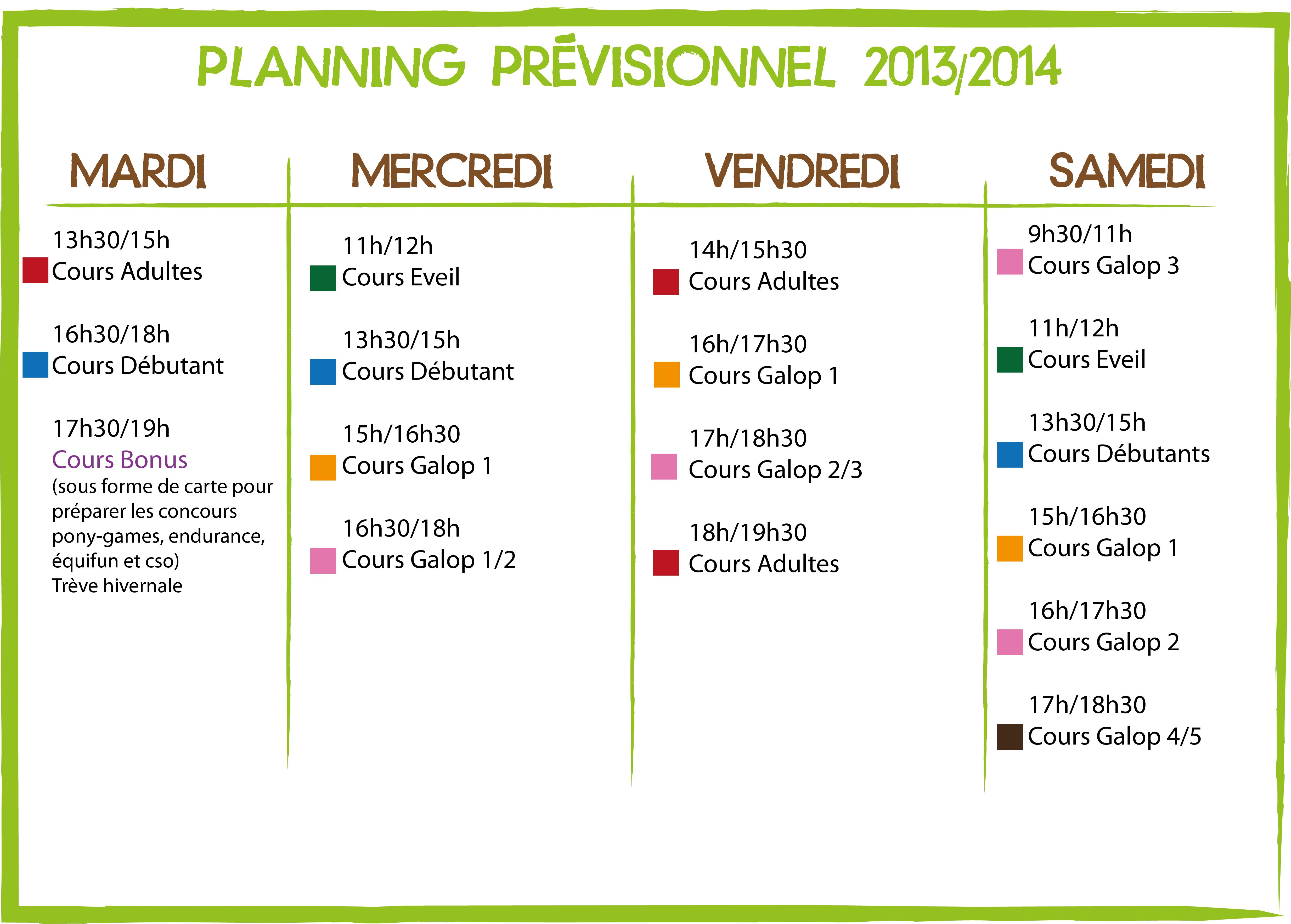 PLANNING 2013