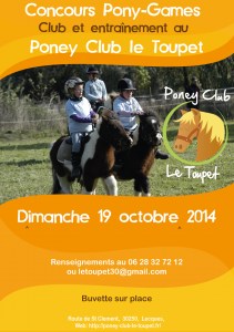 concours poney club 2014